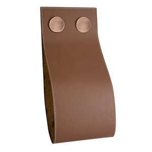 "Zen Designs Magazine Holder W 5 3/4"" x H 12 5/8"" in Brown Leather"