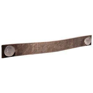"Zen Designs Handle Centers 13 7/8"" in Brown Leather"