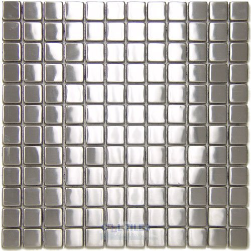 Diamond Tech Stainless Steel Tiles 1 Square Mosaic Mesh Mounted Sheets