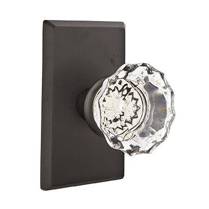 Emtek Hardware - Crystal Door Hardware - Astoria Privacy Door Knob with #3 Rose in Medium Bronze
