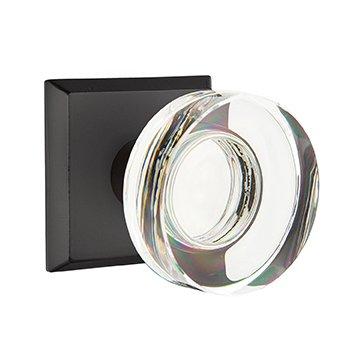 Emtek Hardware - Crystal Door Hardware - Modern Disc Crystal Privacy Door Knob with #6 Rose in Medium Bronze