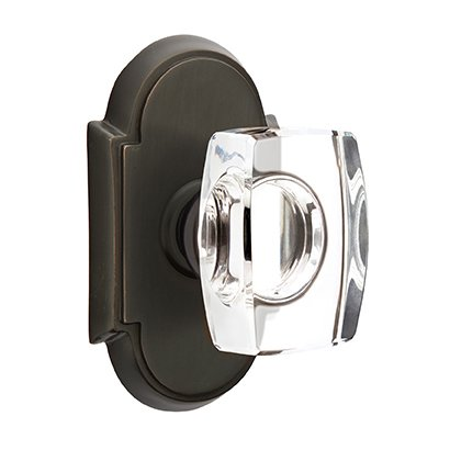 Emtek Hardware Windsor Double Dummy Door Knob with #8 Rose in Oil Rubbed Bronze