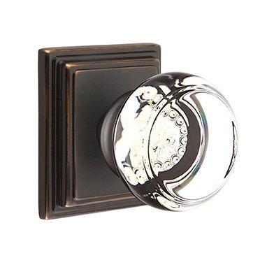 Emtek Hardware Georgetown Privacy Door Knob with Wilshire Rose in Oil Rubbed Bronze