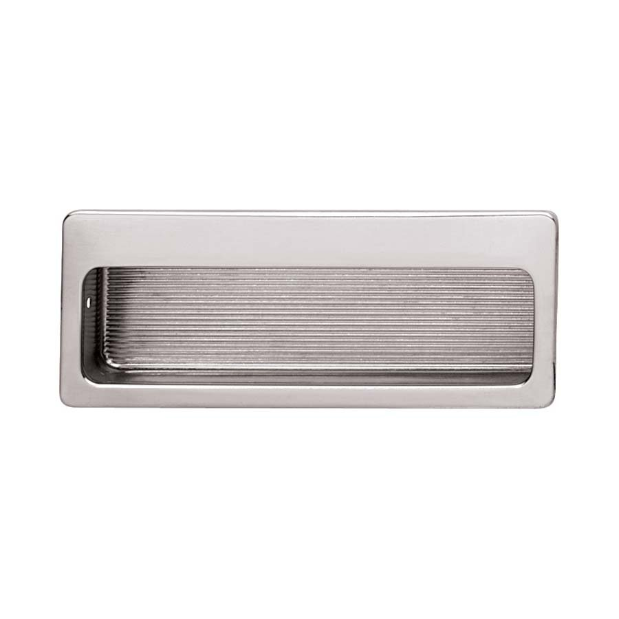 Hafele Hardware Polished Nickel Solid Br Mortise 3 4 Recessed Pull