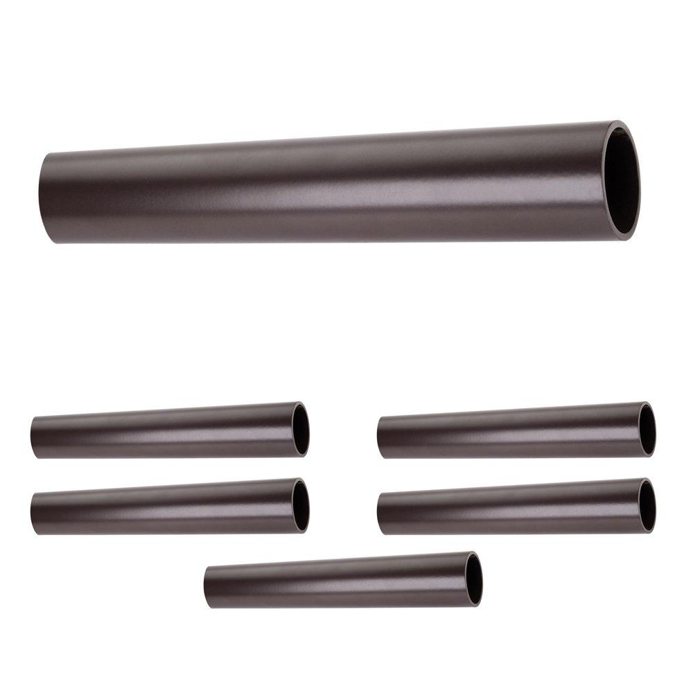 "Hardware Resources - Closet Hardware - (6 PACK) 1-5/16"" Diameter x 8' Round Aluminum Closet Rod in Dark Bronze"