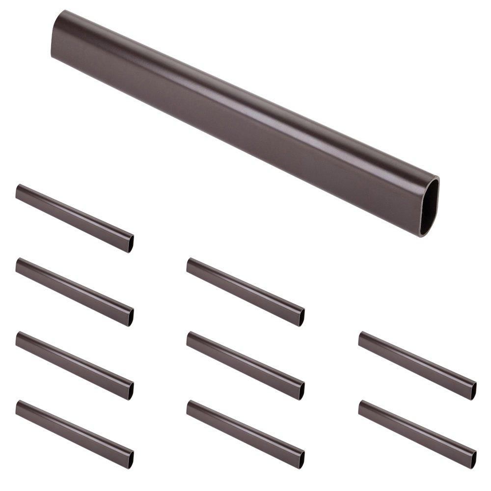 Hardware Resources - Closet Hardware - (10 PACK) 1.0 mm x 8' Long Oval Aluminum Closet Rod in Dark Bronze