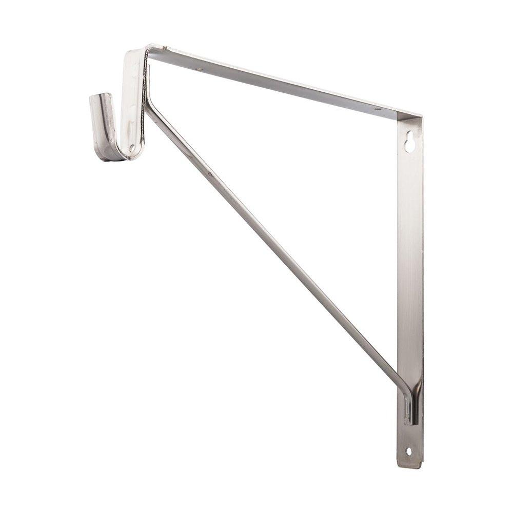 Hardware Resources - Closet Hardware - Shelf & Rod Support Bracket for 1530 Series Closet Rods in Satin Nickel