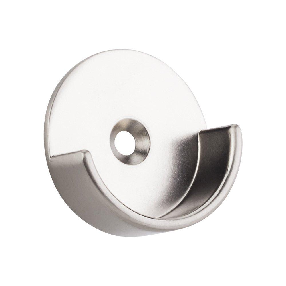 "Hardware Resources - Closet Hardware - Open Closet Bracket for Round 1-5/16"" Closet Rod with 5 mm Posts in Satin Nickel"