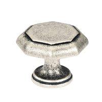 Siro Designs - Nuevo Classico - Antique Silver Large Octagon Knob 38mm