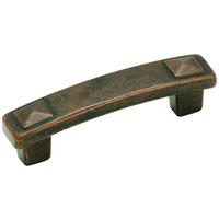 "Amerock - Forgings - Rustic Bronze Pyramid Pull 3"""
