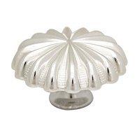 "Abstract Designs - Pinwheel Knobs - 1 1/2"" Knob in Shiny Silver"