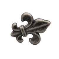 Abstract Designs - Fleur de Lis - Knob in Pewter