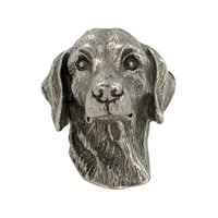 Abstract Designs - Dog Knobs - Daschund Knob in Antique Nickel