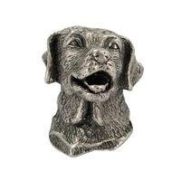 Abstract Designs - Dog Knobs - Golden Retriever Knob in Antique Nickel