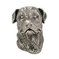 Abstract Designs - Dog Knobs - Rottweiler Knob in Antique Nickel