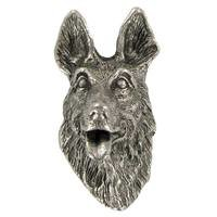 Abstract Designs - Dog Knobs - German Sheperd Knob in Antique Nickel