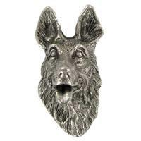 Abstract Designs - Dog Knobs - German Sheperd Knob in Antique Nickel