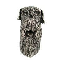 Abstract Designs - Dog Knobs - Schnauzer Knob in Antique Nickel