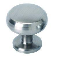 "Alno Inc. Creations - Knobs V - Solid Brass 1"" Knob in Satin Nickel"