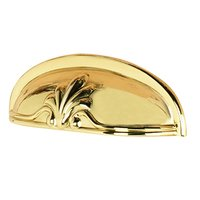 """Alno Inc. Creations - Bella - Solid Brass 3"""" Centers Cup Pull in Polished Brass"""