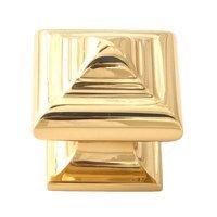 "Alno Inc. Creations - Geometric - Solid Brass 1 1/4"" Knob in Polished Brass"