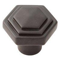 "Alno Inc. Creations - Geometric - Solid Brass 1 1/4"" Knob in Bronze"