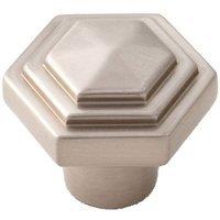 "Alno Inc. Creations - Geometric - Solid Brass 1 1/4"" Knob in Satin Nickel"
