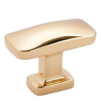 "Alno Inc. Creations - Cloud - 1 1/2"" Rectangular Knob in Polished Brass"