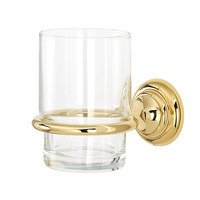 Alno Inc. Creations - Charlie's - Tumbler Holder With Tumbler in Unlacquered Brass