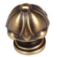 "Alno Inc. Creations - Ornate - Solid Brass 1 1/2"" Diameter Knob in Antique English Matte"