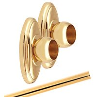 Alno Inc. Creations - Classic Traditional - Shower Rod & Brackets in Polished Brass