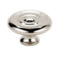 "Alno Inc. Creations - Knobs II - Solid Brass 1 1/2"" Knob in Polished Nickel"