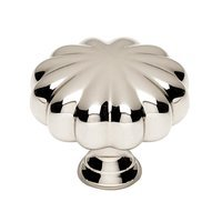 "Alno Inc. Creations - Knobs III - Solid Brass 1 1/2"" Knob in Polished Nickel"