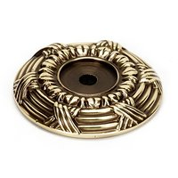 "Alno Inc. Creations - Ribbon & Reed - Solid Brass 1 5/8"" Backplate in Polished Antique"
