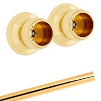 Alno Inc. Creations - Royale - Shower Rod & Brackets in Polished Brass
