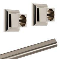 Alno Inc. Creations - Manhattan - Shower Rod & Brackets in Satin Nickel