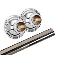 Alno Inc. Creations - Yale - Shower Rod & Brackets in Polished Chrome