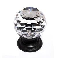"Alno Inc. Creations - Crystal - Solid Brass 1 3/16"" Spherical Knob in Swarovski /Bronze"