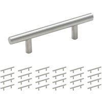 "Amerock - Carbon Steel Bar Pull - 25 Pack of 3"" Centers Carbon Steel Bar Pull in Sterling Nickel"
