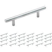 "Amerock - Carbon Steel Bar Pull - 25 Pack of 3 3/4"" Centers Carbon Steel Bar Pull in Sterling Nickel"