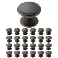 "Amerock - Ravino - 25 Pack of 1 1/4"" Diameter Knob in Oil Rubbed Bronze"