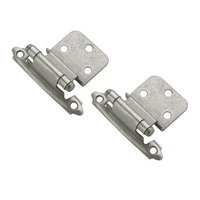 "Amerock - Weathered Nickel Super Values - Self Closing Face Mount 3/8"" Inset Hinge (Pair) in Weathered Nickel"