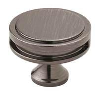"Amerock - Oberon - 1 3/4"" Diameter Knob in Satin Nickel"