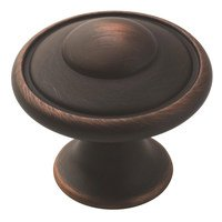 """Amerock - Oil Rubbed Bronze - 1 3/16"""" Diameter Button Knob in Oil Rubbed Bronze"""