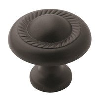 "Amerock - Flat Black - 1 1/4"" Diameter Knob in Flat Black"