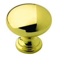 "Amerock - Clearance - 1 1/4"" Diameter Allison Knob in Polished Brass"
