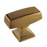 "Amerock - Mulholland - 1 1/2"" Rectangle Knob in Gilded Bronze"