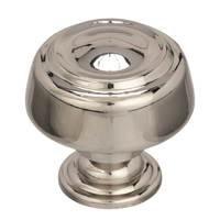 "Amerock - Kane & Crosley - 1 5/8"" Diameter Cabinet Knob in Polished Nickel"