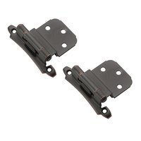 "Amerock - Self-Closing Face Mount Cabinet Hinges - Self Closing Face Mount 3/8"" Inset Hinge (Pair) in Oil Rubbed Bronze"