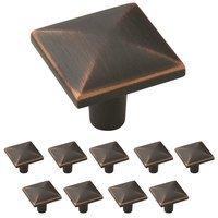 "Amerock - Extensity - 10 Pack of 1 1/8"" Long Knob in Oil Rubbed Bronze"